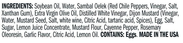 Terrapin Ridge Farms Sriracha Aioli Garnishing Squeeze ingredients