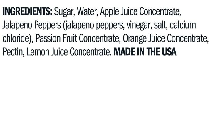 Terrapin Ridge Farms Passion Fruit Jalapeno Jelly ingredients