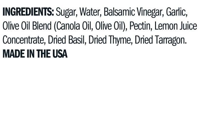 Terrapin Ridge Farms Garlic Balsamic & Herb Jam ingredients