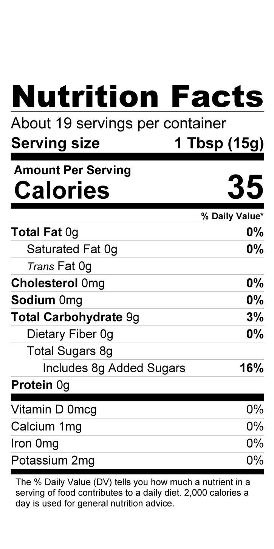 Terrapin Ridge Farms Garlic Balsamic & Herb Jam nutrition facts