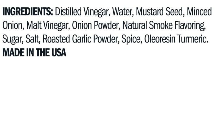 Terrapin Ridge Farms Smokey Onion Mustard ingredients