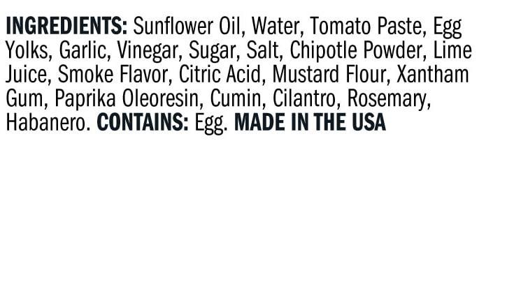 Terrapin Ridge Farms Creamy Chipotle Pepper Dip ingredients