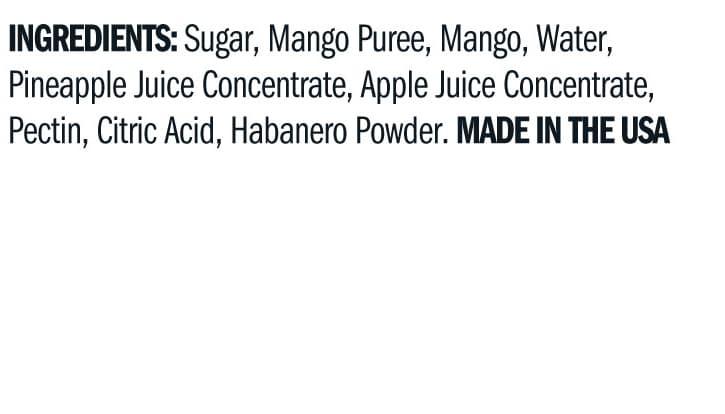 Terrapin Ridge Farms Mango Habanero Jam ingredients
