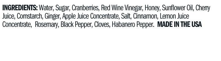 Terrapin Ridge Farms Tart Cherry, Apple & Rosemary Glaze ingredients