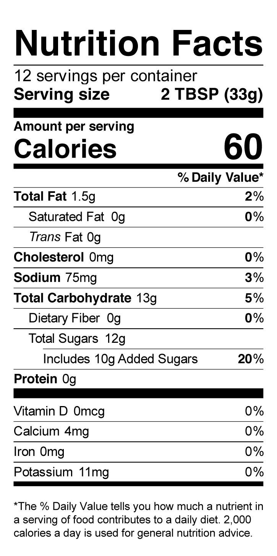 Terrapin Ridge Farms Tart Cherry, Apple & Rosemary Glaze nutrition facts