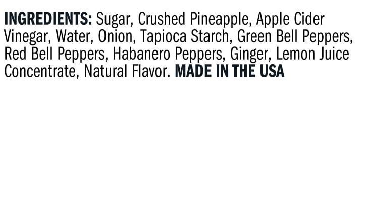 Terrapin Ridge Farms Roasted Pineapple Habanero DIP ingredients