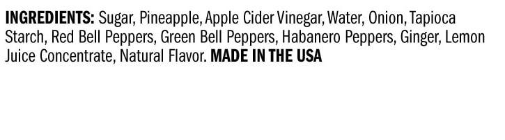 Terrapin Ridge Farms Roasted Pineapple Habanero Sauce ingredients