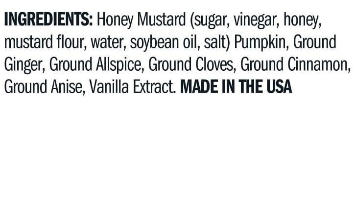 Terrapin Ridge Farms Pumpkin Honey Mustard ingredients