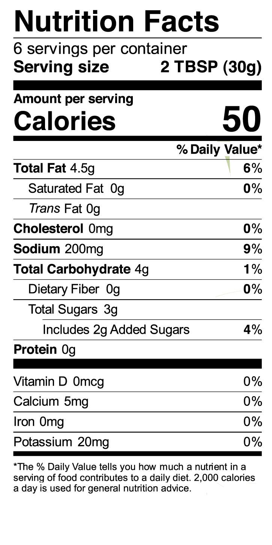 Terrapin Ridge Farms Carnitas Simmer Sauce nutrition facts