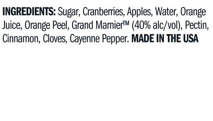 Terrapin Ridge Farms Cranberry Relish w/ Grand Marnier ingredients