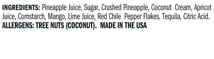 Terrapin Ridge Farms Tropical Tequila Sauce Ingredients