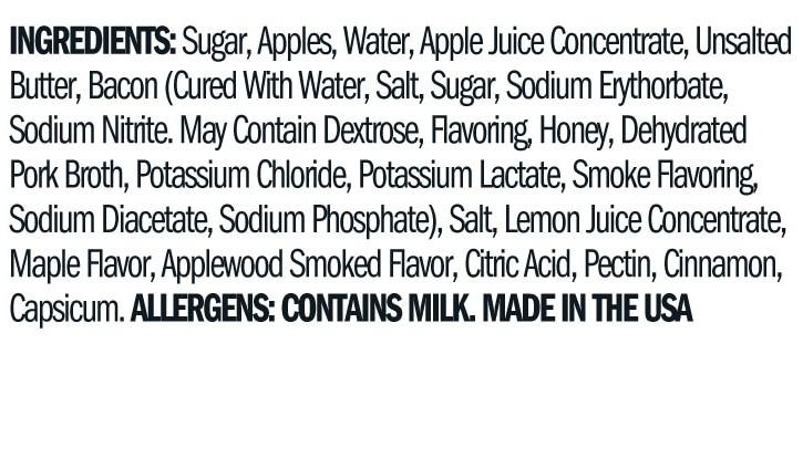 Terrapin Ridge Farms Apple Maple Bacon Jam ingredients