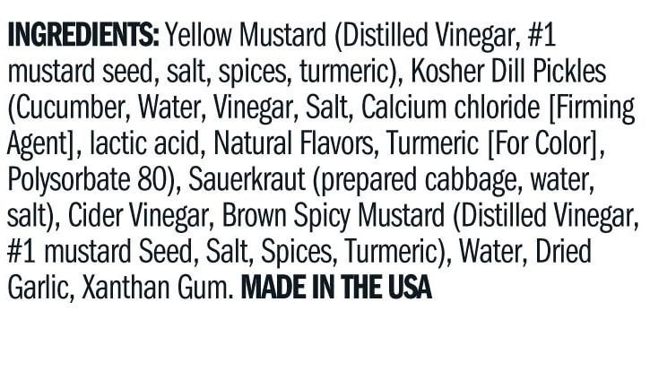 Terrapin Ridge Farms Garlic Kraut Mustard ingredients