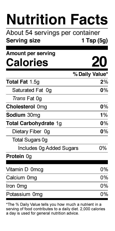 Terrapin Ridge Farms Horseradish Sauce nutrition facts
