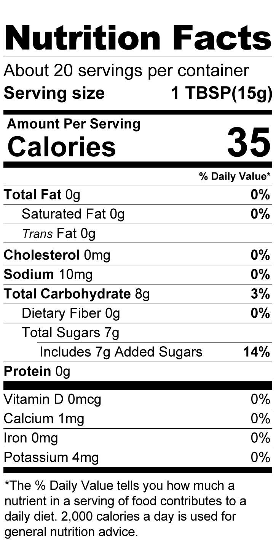 Terrapin Ridge Farms Key Lime Jelly nutrition facts