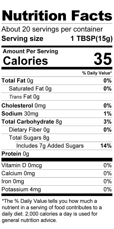 Terrapin Ridge Farms Margarita Jelly nutrition facts