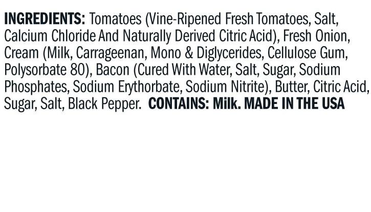 Terrapin Ridge Farms Creamy Bacon Tomato Sauce ingredients